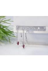 EMA0052 - Silver Ring, Diamante, Drop,  Multi-Pack Earring
