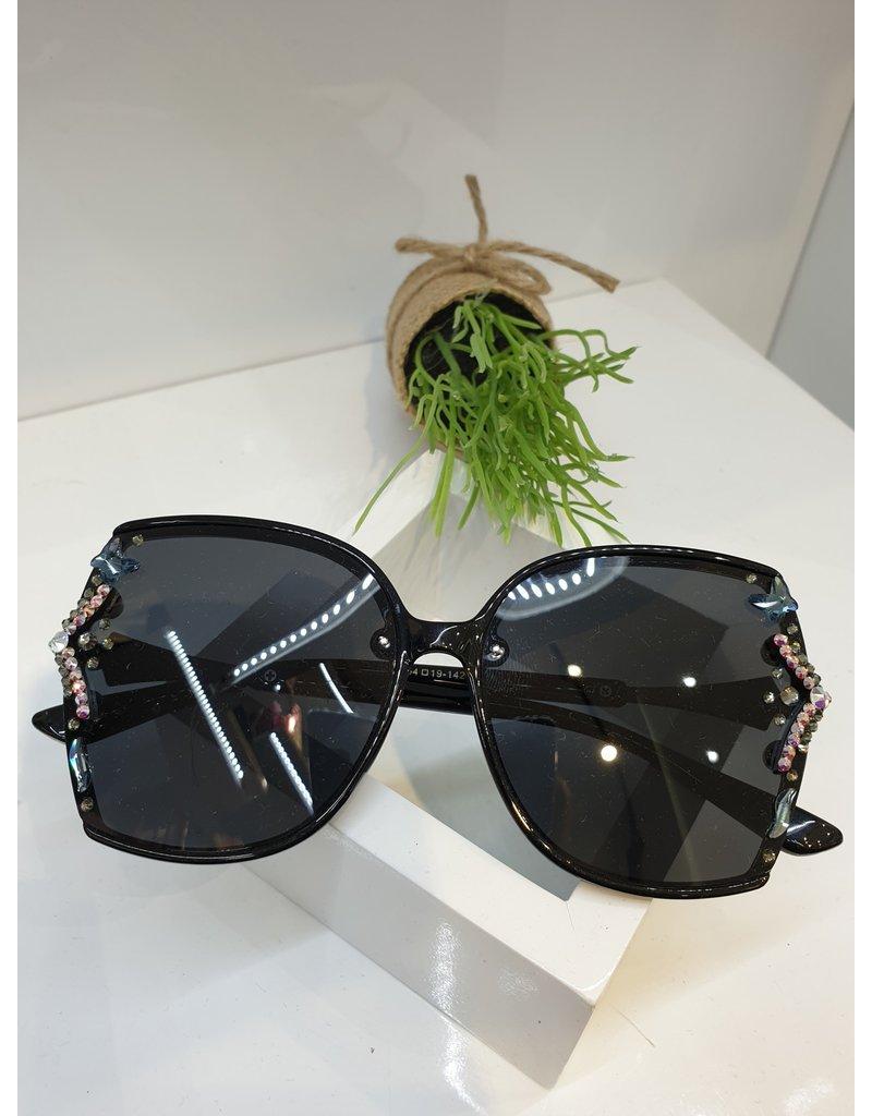 SNA0020- Black Blue/Silver Sunglasses