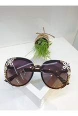 SNA0031- Gold/White/Purple Sunglasses