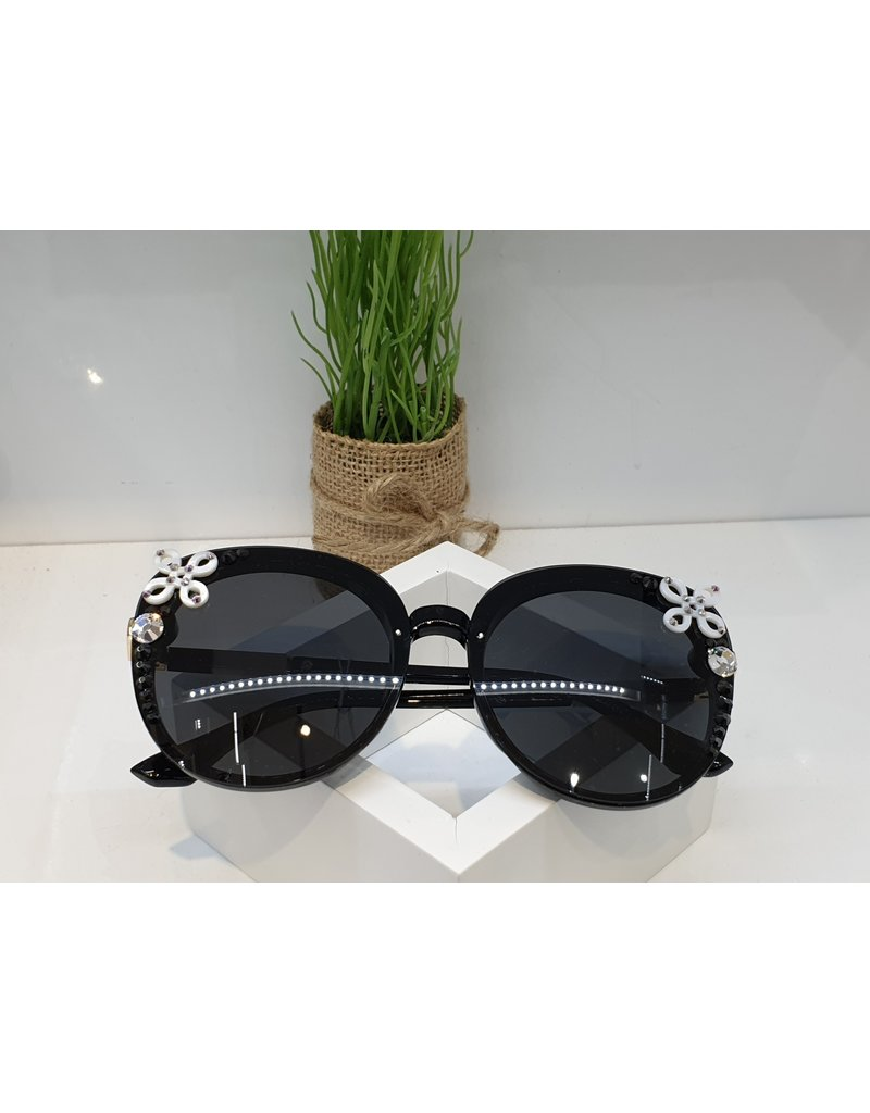 SNA0033- Black/White/Purple Sunglasses