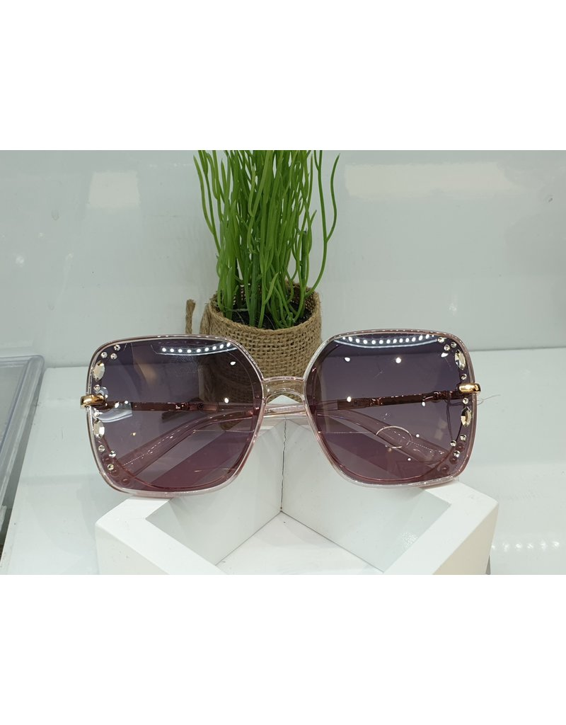 SNA0061- Silver Leaves  Pink Sunglasses