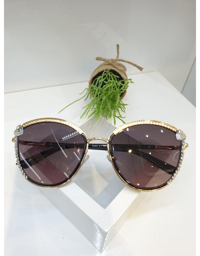 SNA0065- Gold Silver Heart Sunglasses