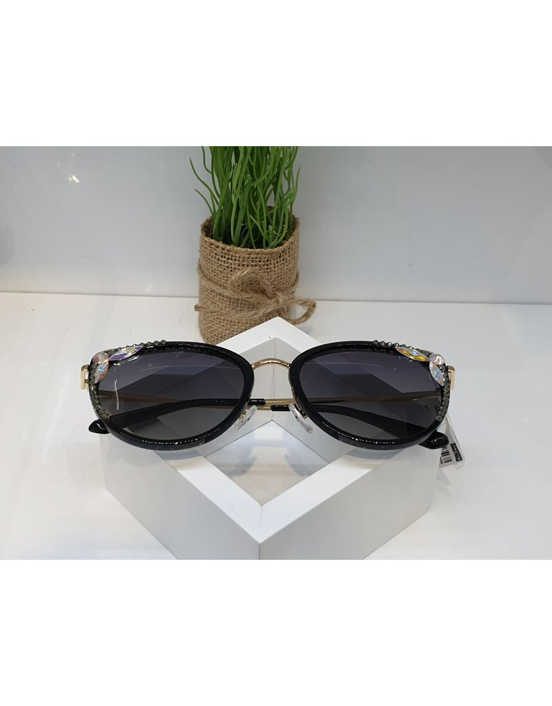SNA0067- Green Leaves Mother Of Pearl Sunglasses