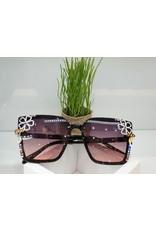 SNA0076- Pink/Gold/White Flower Sunglasses