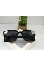 SNA0080- Gold/White Flower Mother Of Pearl Sunglasses