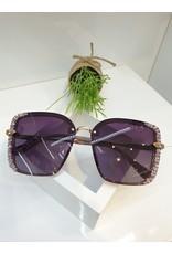 SNA0085- Gold Purple Sunglasses