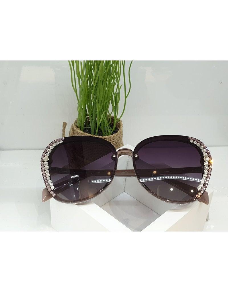 SNA0106- Silver Pink Frameless Mink Sunglasses