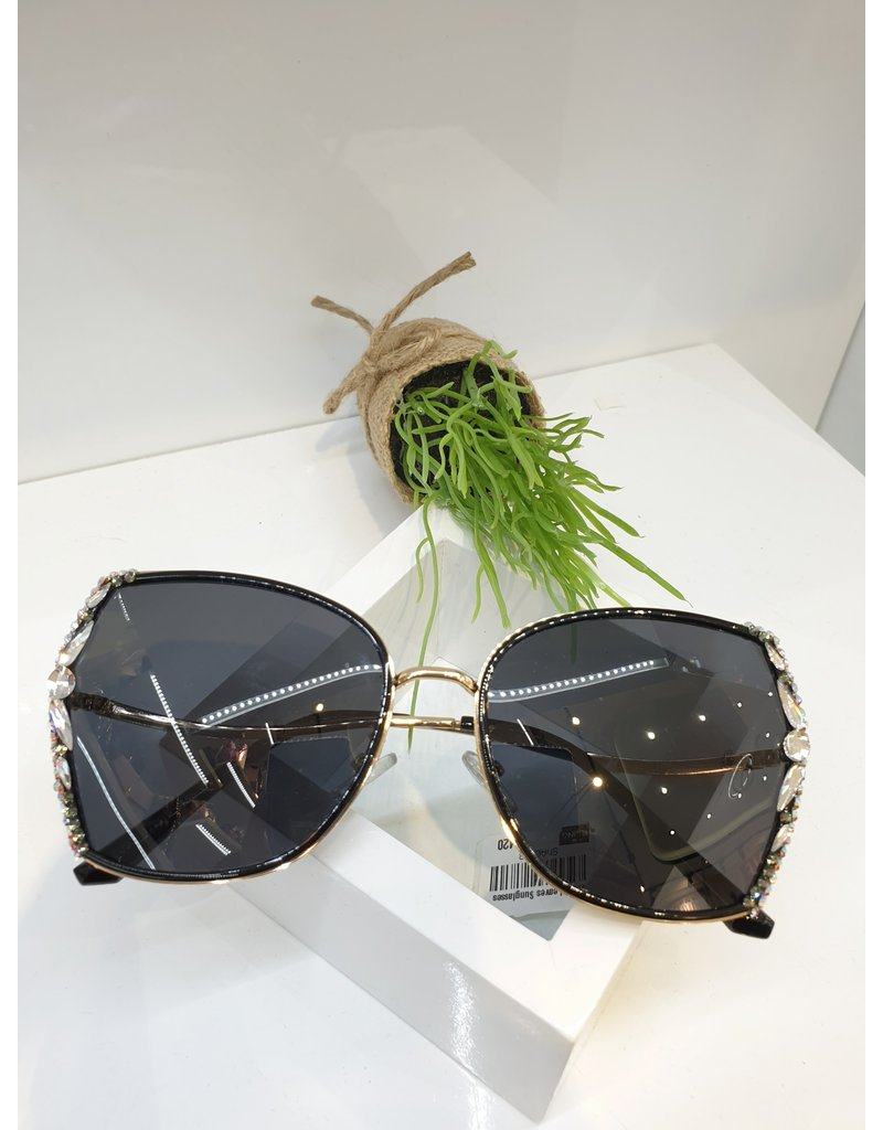 SNA0108- Silver Leaves Sunglasses