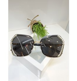 SNA0118- Silver Flower Sunglasses
