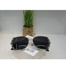 SNA0119- Grey Pink Frameless Gold BlackSunglasses