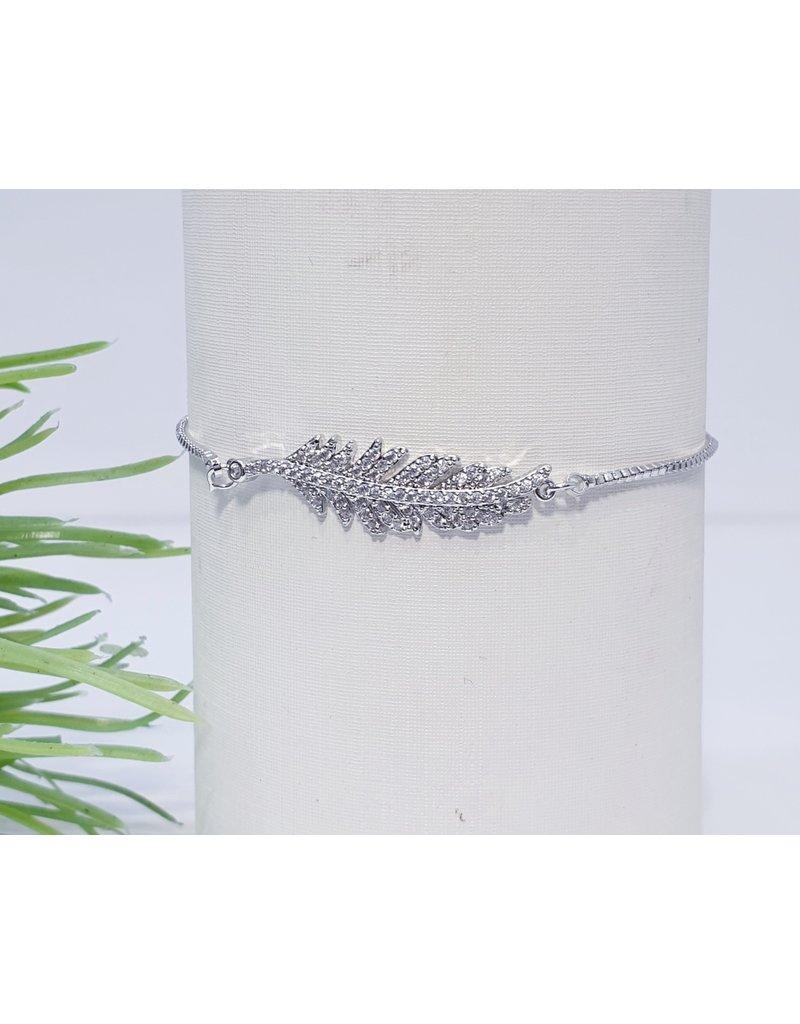 Bjf0001 - Silver Leaf Adjustable Bracelet
