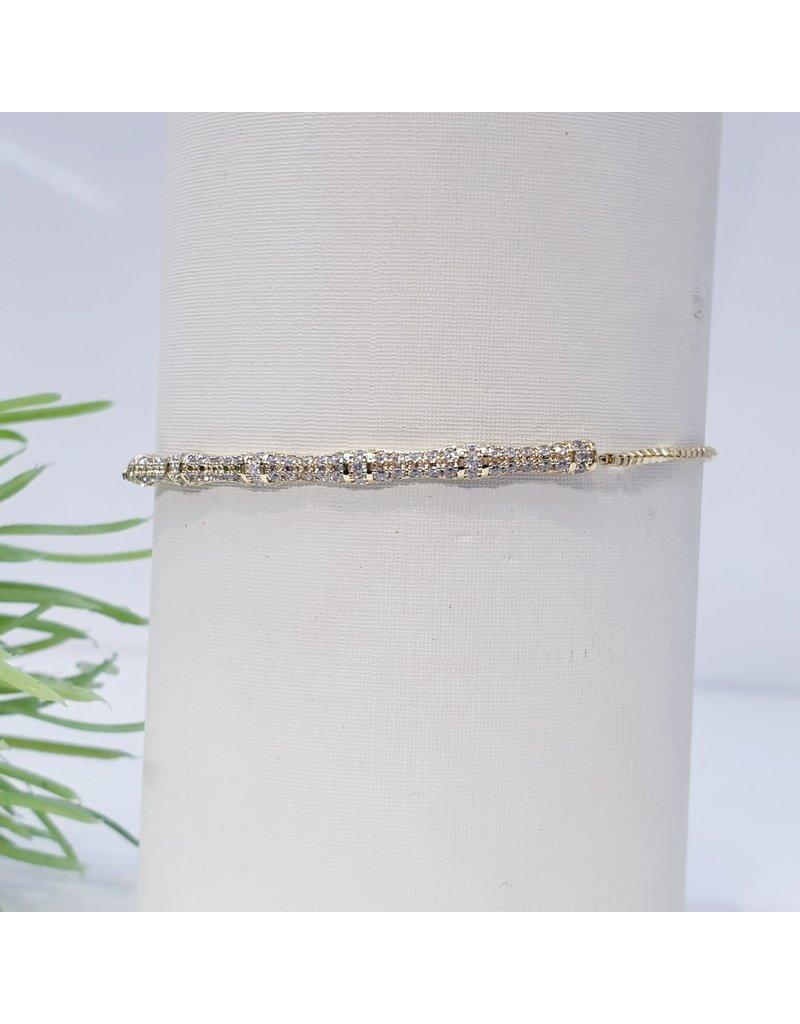 Bjf0004 - Gold  Adjustable Bracelet