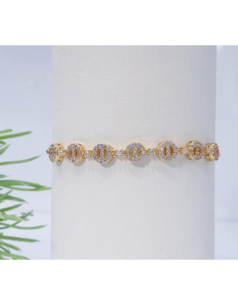 Bjf0006 - Gold  Adjustable Bracelet