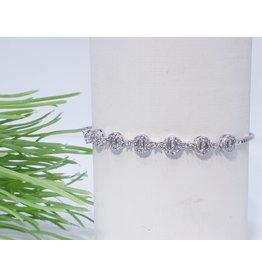 Bjf0007 - Silver  Adjustable Bracelet