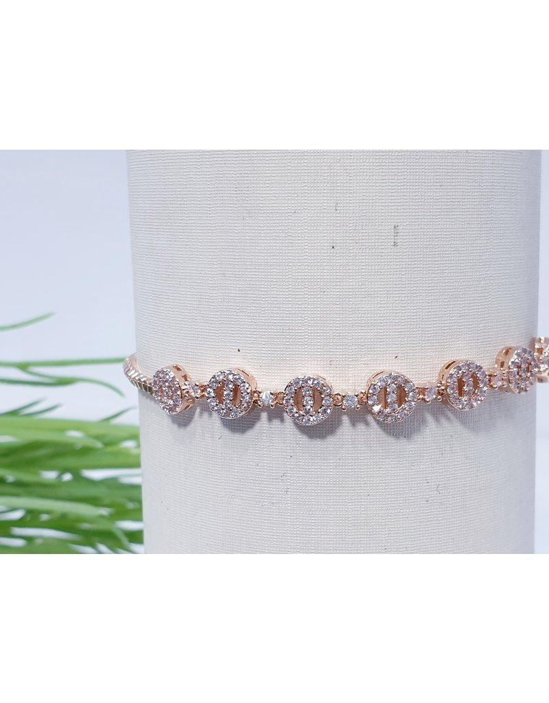 Bjf0008 - Rose Gold  Adjustable Bracelet