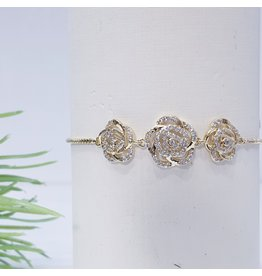 Bjf0012 - Gold  Adjustable Bracelet