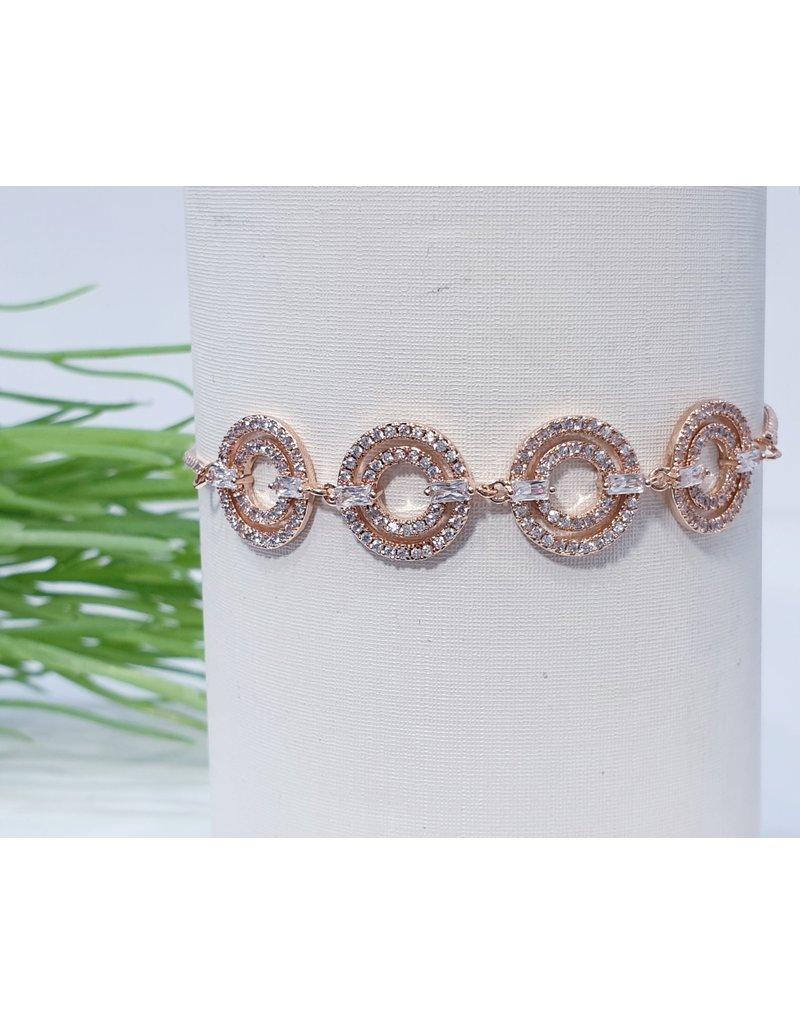 Bjf0013 - Rose Gold Circle Adjustable Bracelet
