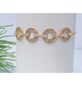 Bjf0014 - Gold Circle Adjustable Bracelet