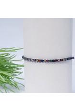 Bjf0024 - Black, Multicolour Adjustable Bracelet