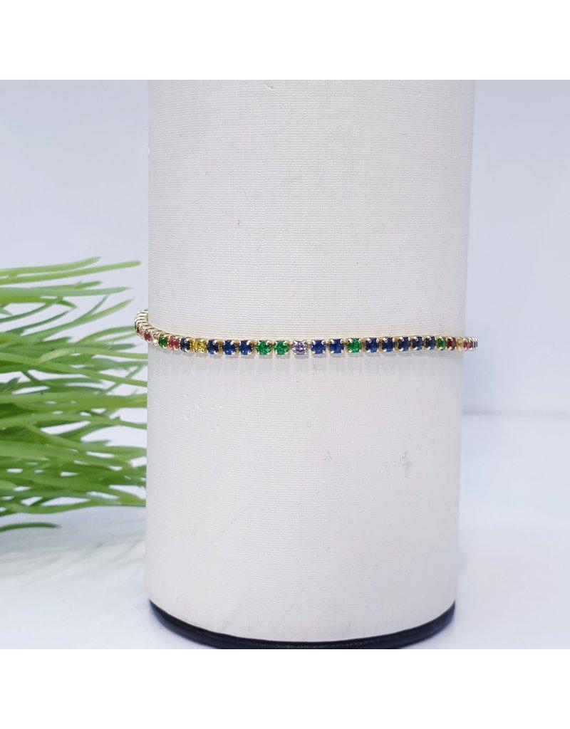 Bjf0025 - Rose Gold, Multicolour Adjustable Bracelet
