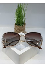 SNA0100- Silver Leaves Sunglasses