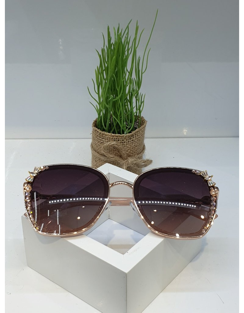 SNA0014- Gold/Pink Bow Sunglasses