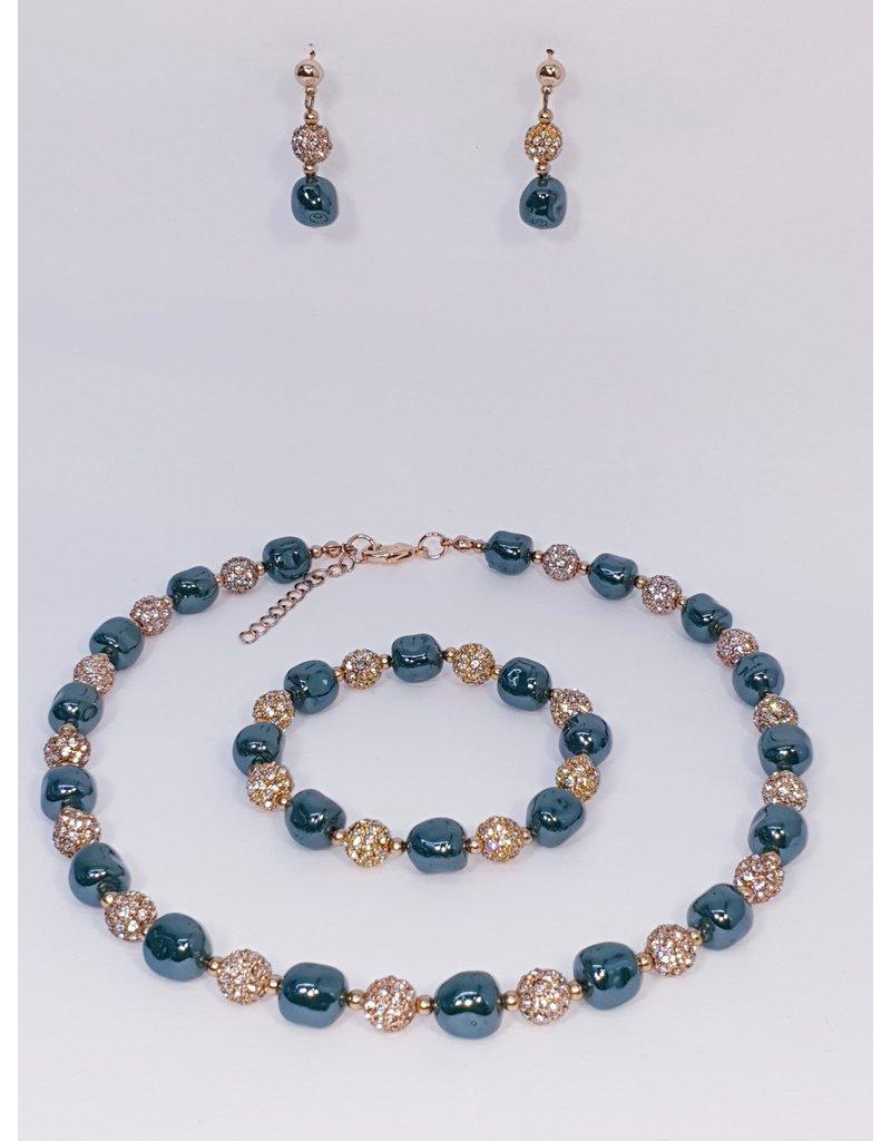 BSF0002 - Rose Gold,  Ball Bracelet Set