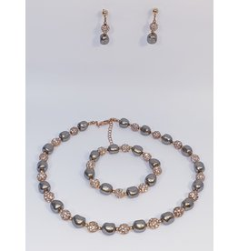 BSF0003 - Rose Gold,  Ball Bracelet Set