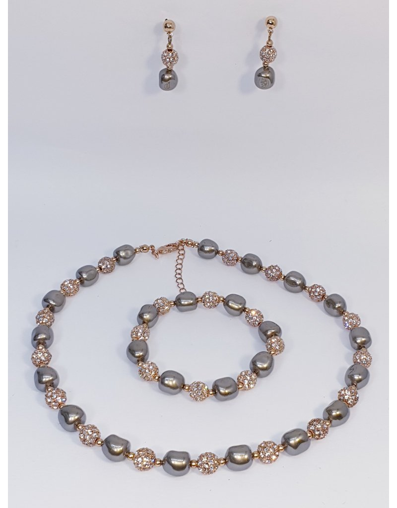 BSF0003 - Rose Gold,  Ball Bracelet Set
