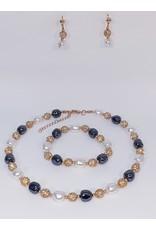 BSF0004 - Silver,  Ball Bracelet Set