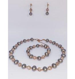 BSF0005 - Rose Gold,  Ball Bracelet Set
