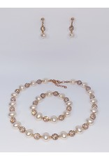 BSF0007 - Rose Gold,  Ball Bracelet Set