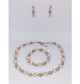 BSF0007 - Rose Gold,  Ball Bracelet Set