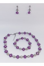BSF0008 - Silver,  Ball Bracelet Set