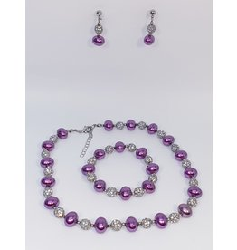 BSF0008 - Silver,  Ball Bracelet Set