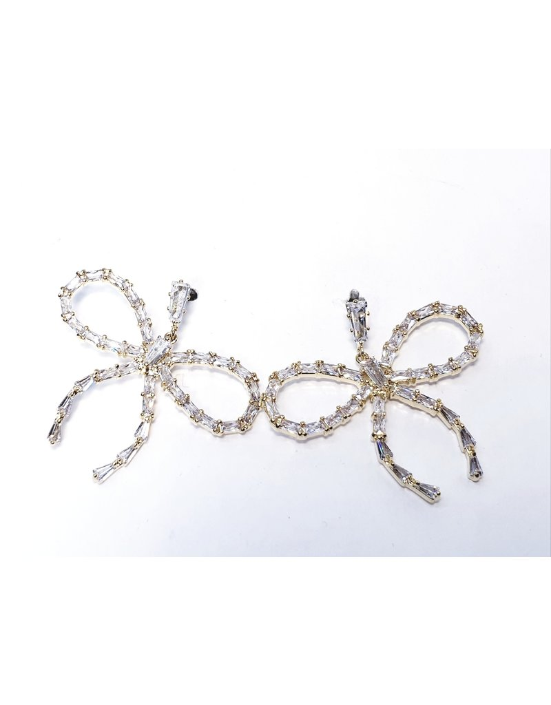 ERH0154 - Gold Big Bow  Earring