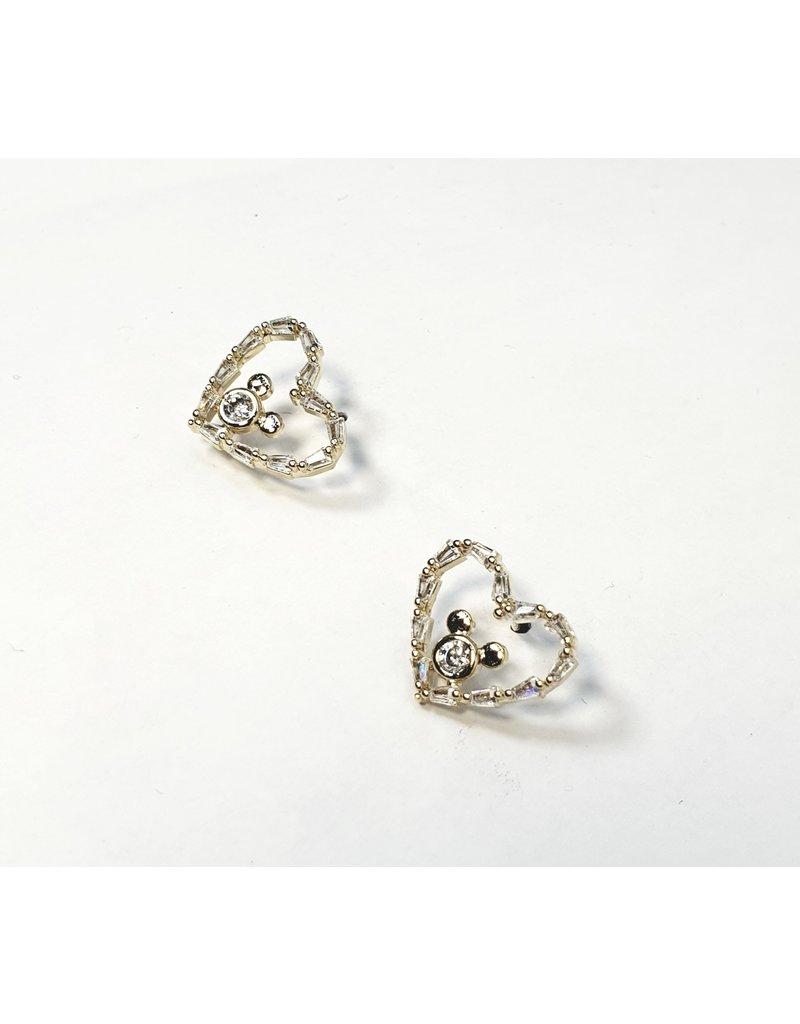 ERH0156 - Gold Bunny Heart  Earring