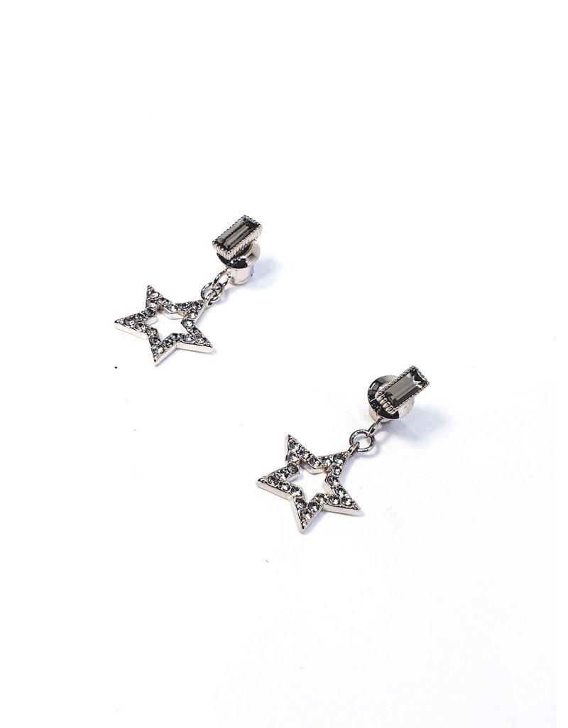 ERH0157 - Silver Drop, Cross Body Handbaguette, Star  Earring
