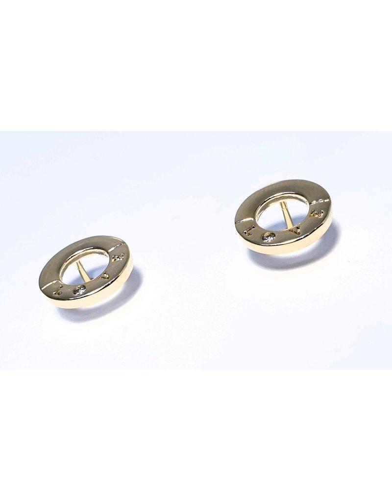 ERH0159 - Gold Circle Earring