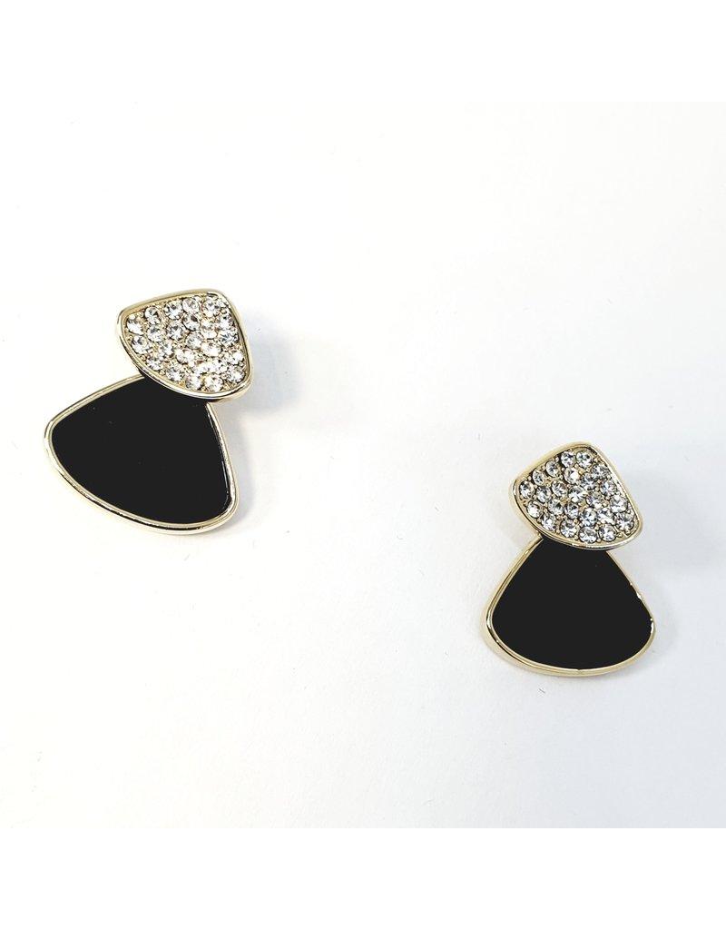 ERH0160 - Gold Black  Earring