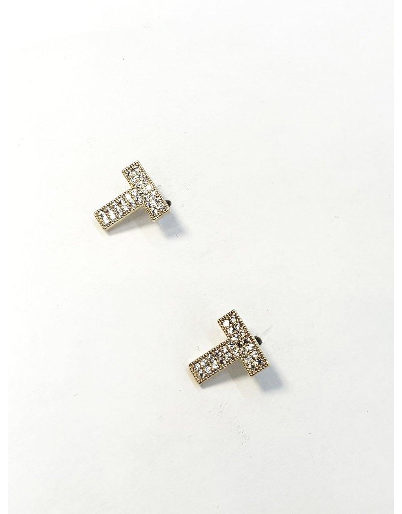 ERH0163 - Gold T Earring