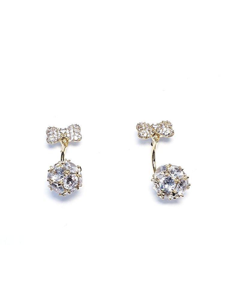 ERH0181 - Gold Bow Drop  Earring