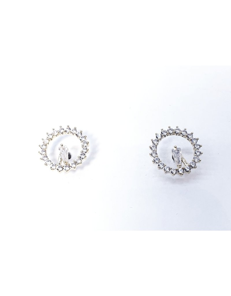 ERH0182 - Gold Clock Earring