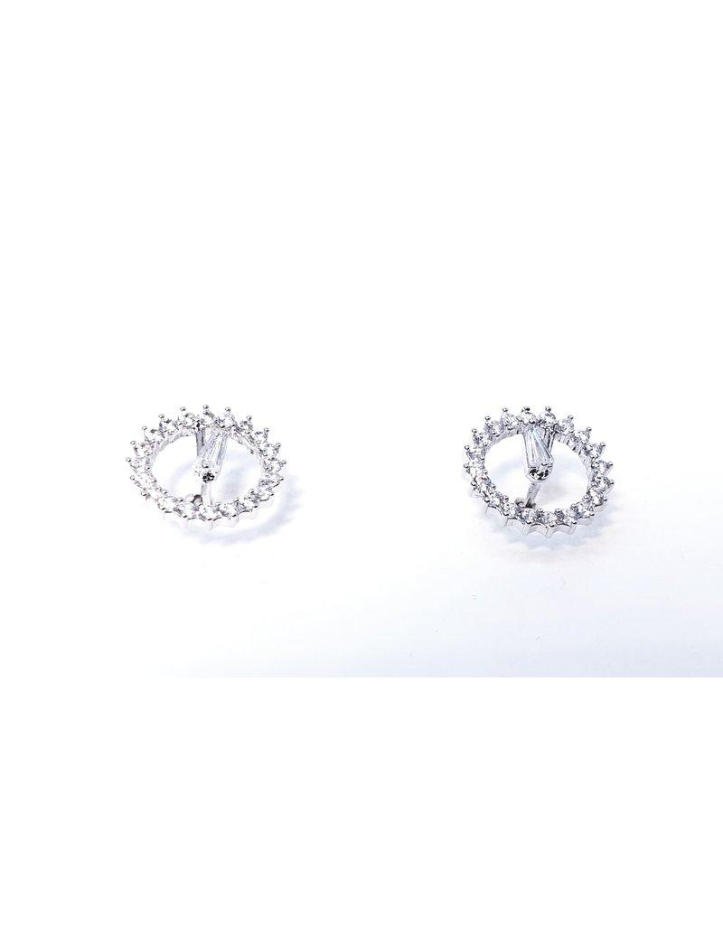 ERH0183 - Silver Clock Earring