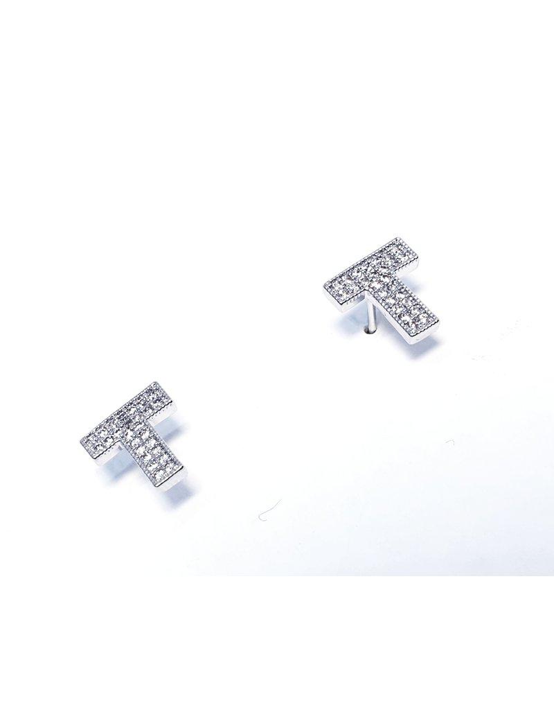 ERH0184 - Silver T Earring
