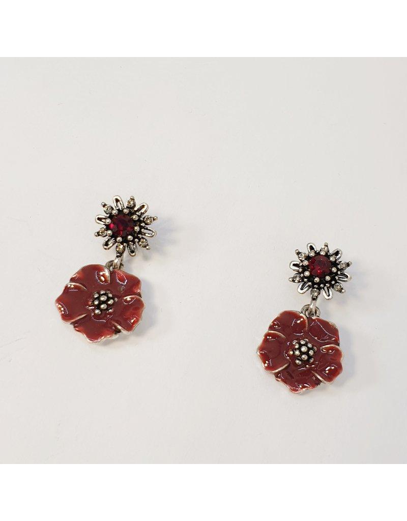 ERH0188 - Red  Earring