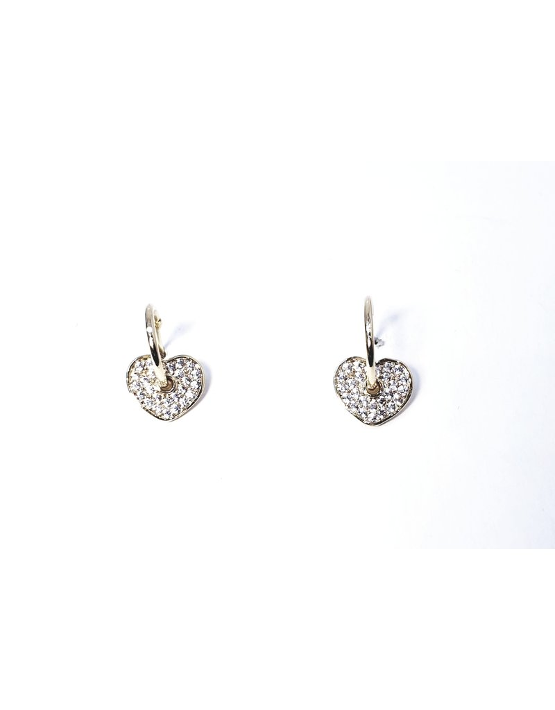 ERH0199 - Gold Heart  Earring
