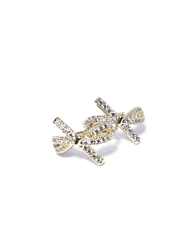 ERH0202 - Gold Bow  Earring