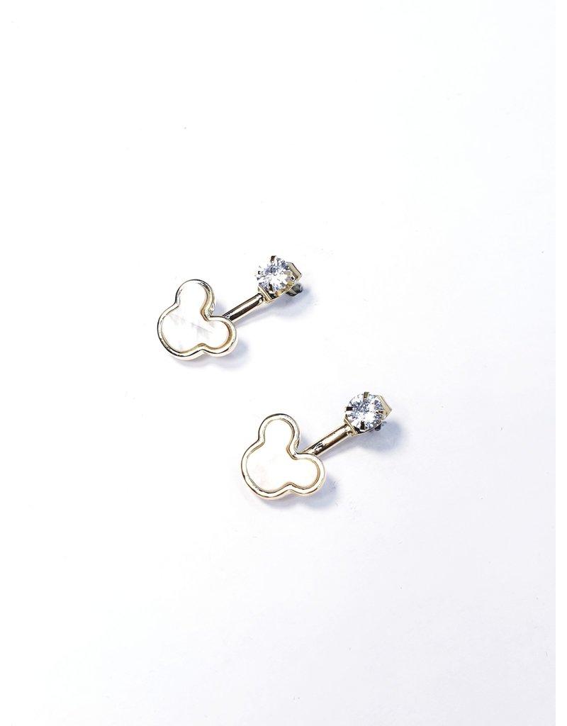 ERH0207 - Gold White  Earring
