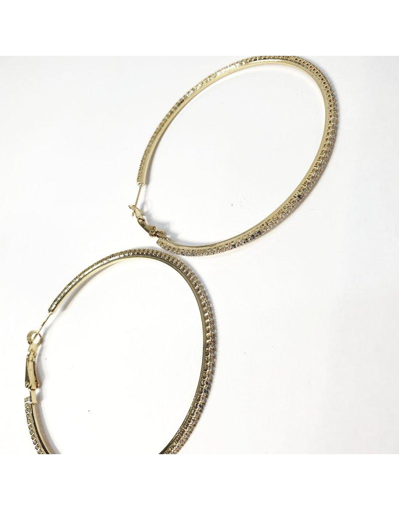 ERH0223 - Gold Large Hoop  Earring